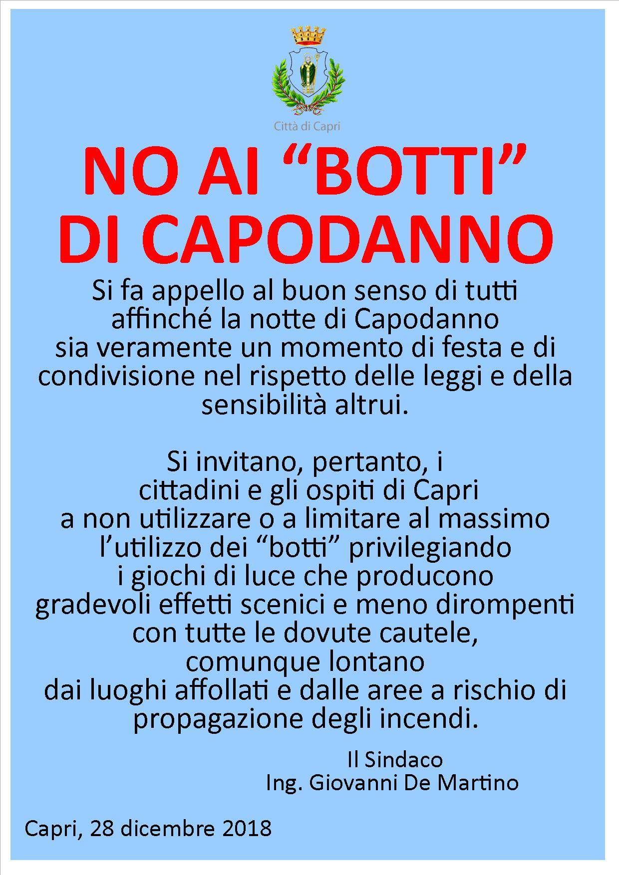 50451093bd499 Pubblichiamo due locandine diffuse dal Sindaco e dall'amministrazione  comunale di Capri nelle quali si invita a non sparare o a limitare al  massimo ...