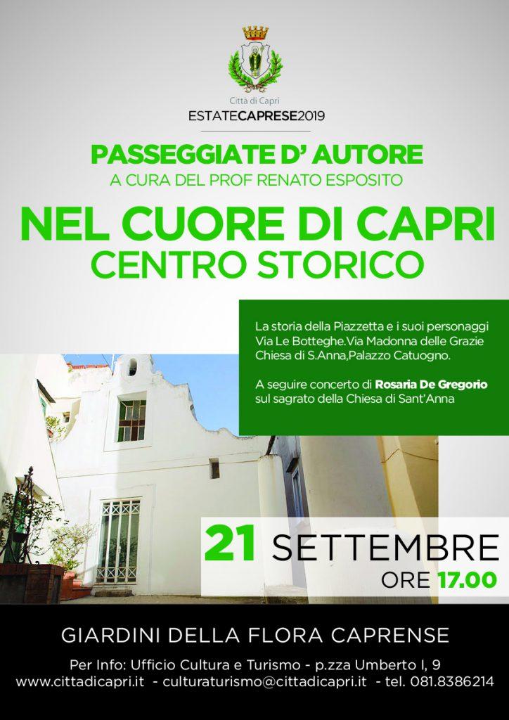 Passeggiata d'autore nel cuore di Capri alla scoperta del centro storico con il prof Renato Esposito