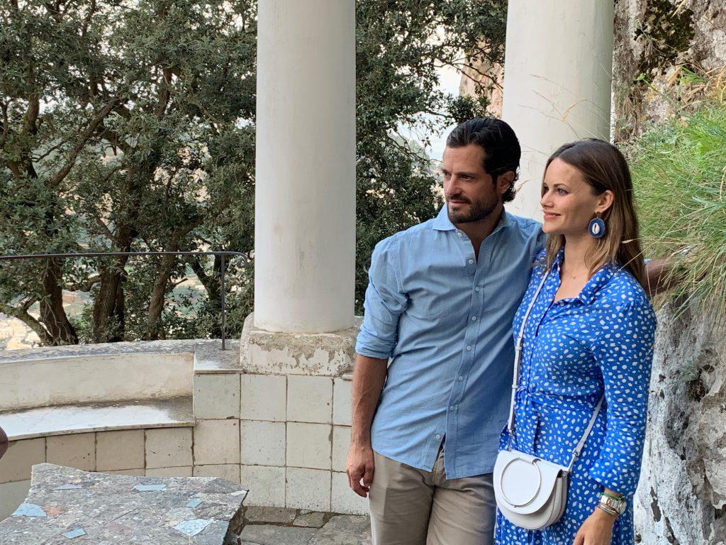 I principi di Svezia Carlo Filippo e Sofia in visita ad Anacapri a Villa San Michele. Le foto