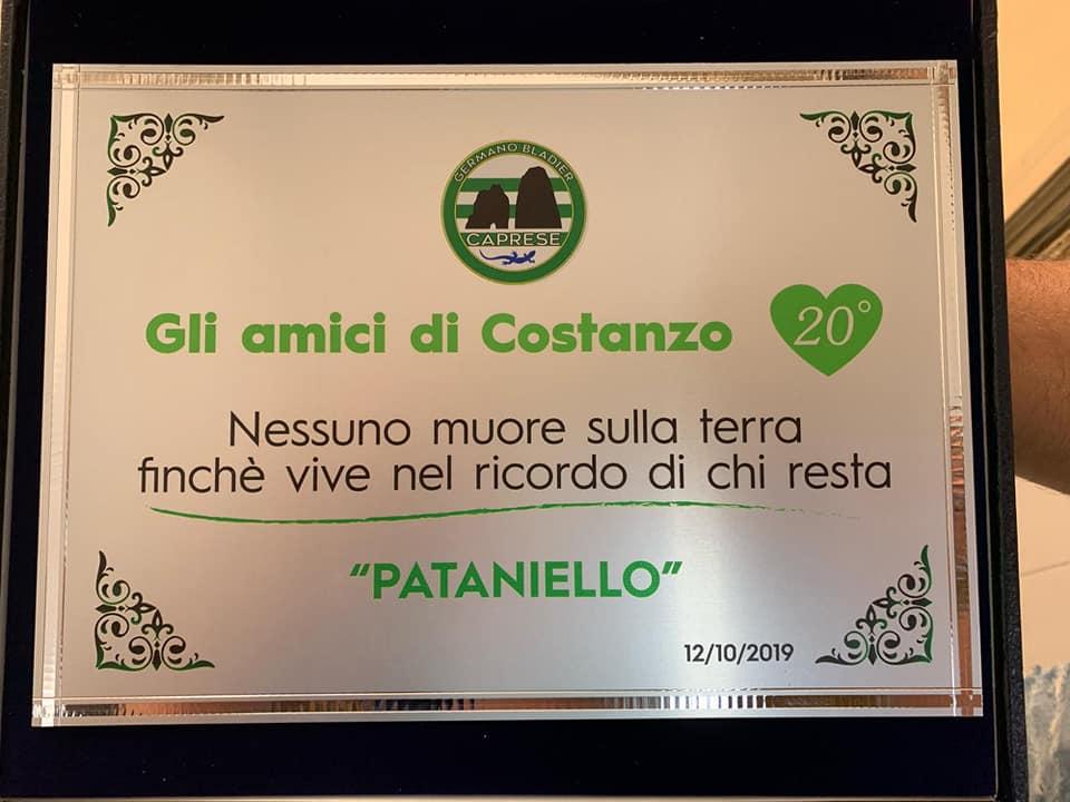 """""""Nessuno muore sulla terra finchè vive nel ricordo di chi resta"""": Capri ricorda Costanzo Federico """"Pataniello"""""""