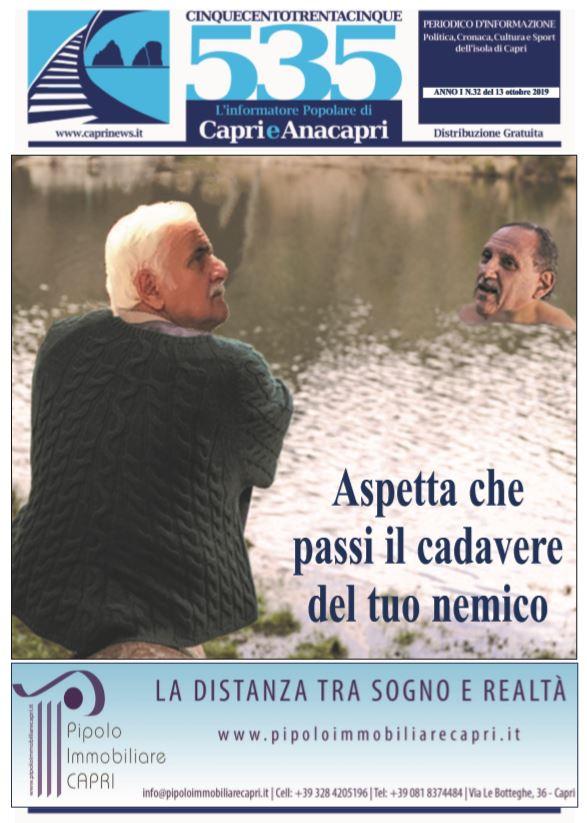 """In edicola il numero 32 di """"535-L'informatore popolare di Capri e Anacapri"""": la copertina e i principali argomenti"""