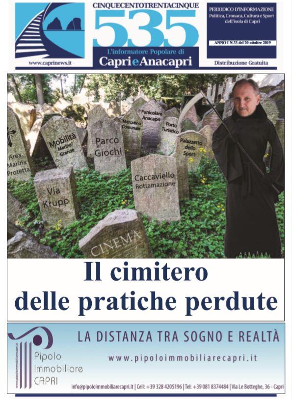 """In edicola il numero 33 di """"535-L'informatore popolare di Capri e Anacapri"""": la copertina e i principali argomenti"""