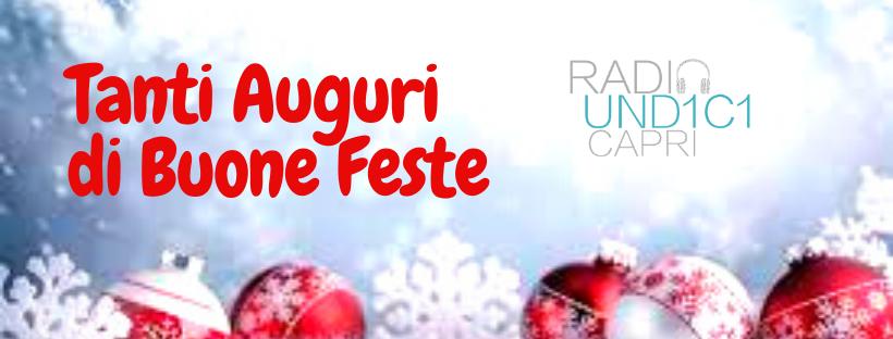 """""""Non dimenticate di accendere il sorriso"""": buone feste a ritmo di musica dallo staff di Radio11Capri"""