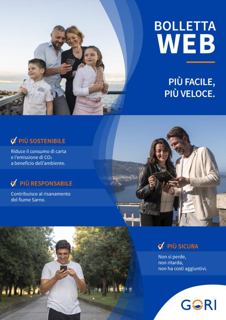 L'adesione a Bolletta Web di Gori conviene: è più sicura, sostenibile e contribuisce anche al risanamento del Sarno