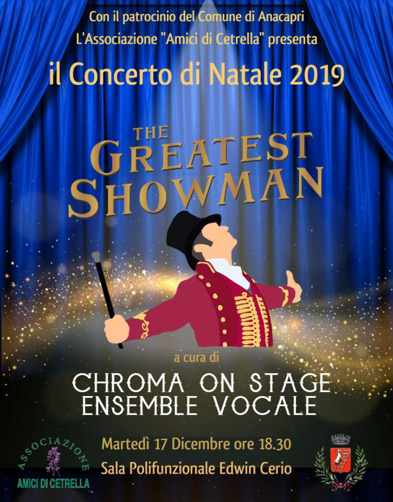 """The greatest showman"", concerto ad Anacapri con l'ensemble vocale Chroma on stage"