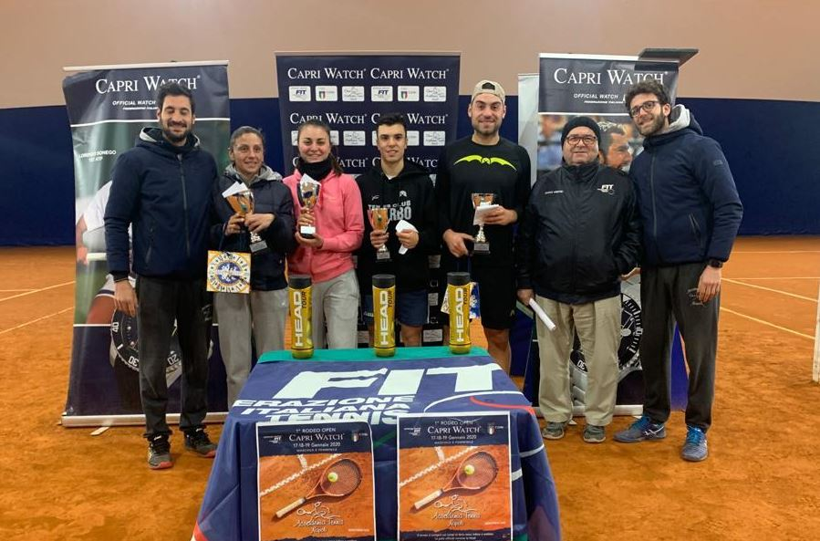 Open Capri Watch all'Accademia Tennis Napoli: vincono Anna Floris e Giovanni Cozzolino