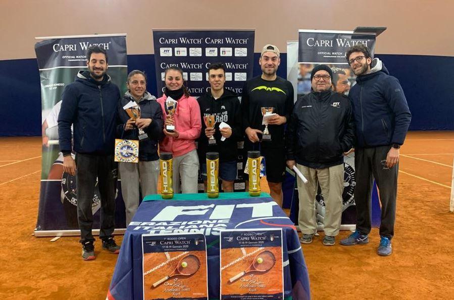 Open Capri Watch all'Accademia Tennis Napoli: vincono Anna Floris e Giovanni Cozzolino