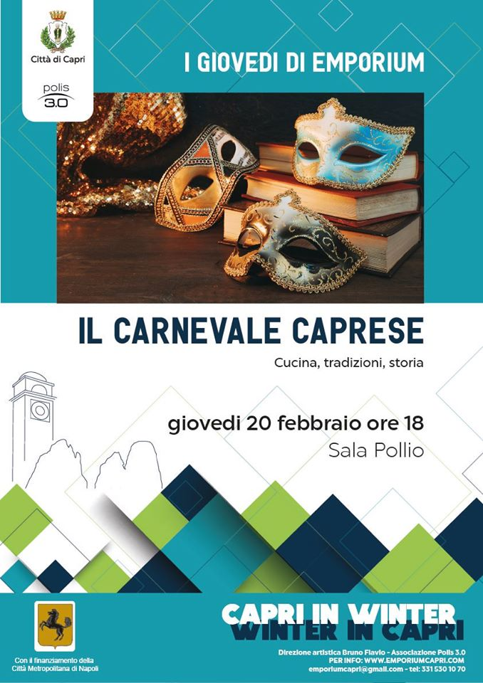 """Il Carnevale caprese: cucina, tradizioni, storia nel """"giovedì di Emporium"""""""