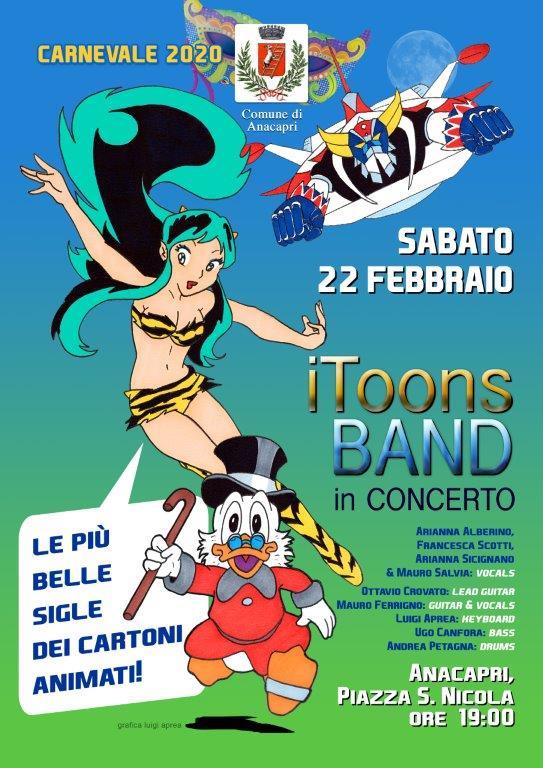 Carnevale ad Anacapri con lo spettacolo in musica ispirato alle sigle dei cartoni animati e la sfilata in maschera: il programma
