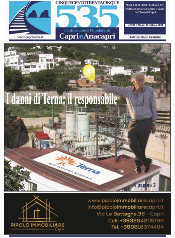 """In edicola il numero 6 del 2020 di """"535-L'informatore popolare di Capri e Anacapri"""": la copertina e i principali argomenti"""