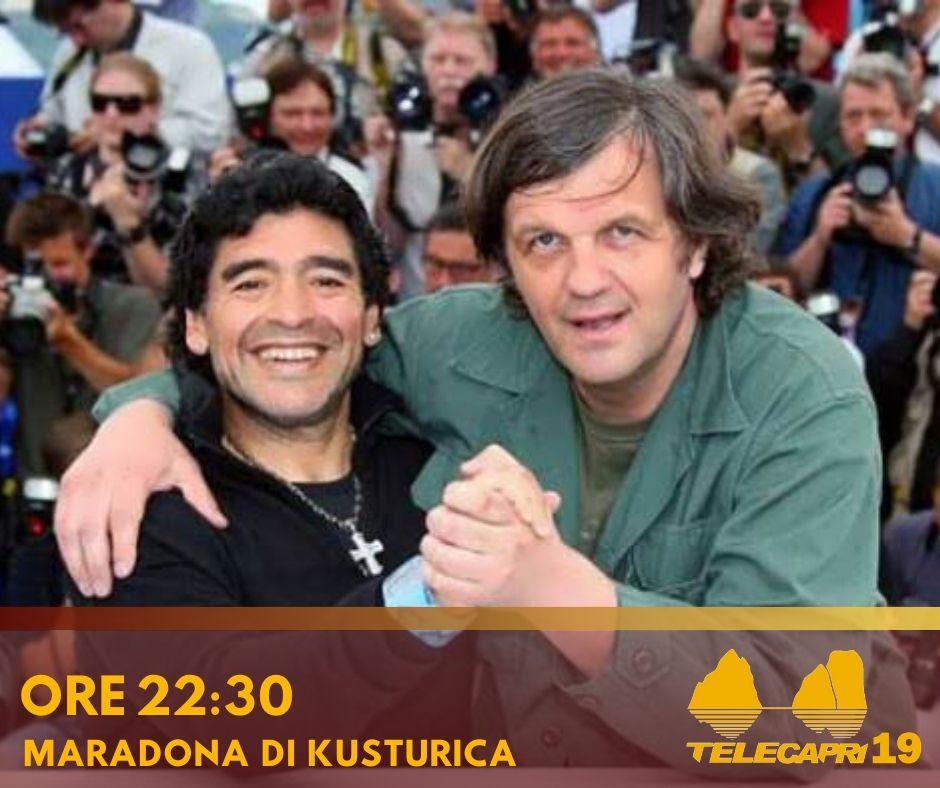 "Su Telecapri il documentario sportivo ""Maradona di Kusturica"""