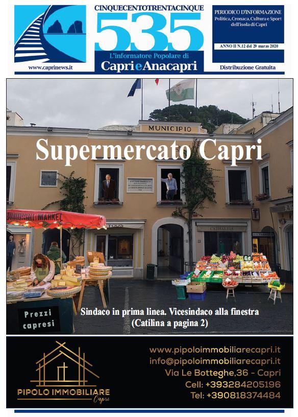 """In edicola il numero 12 del 2020 di """"535-L'informatore popolare di Capri e Anacapri"""": la copertina e i principali argomenti"""