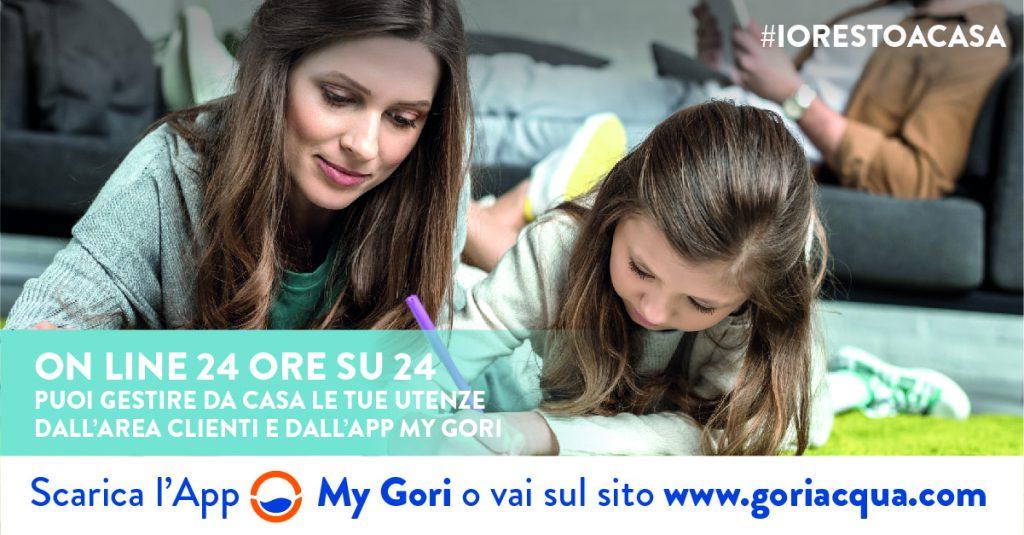 Parte #iorestoacasa, la nuova campagna di Gori che informa i cittadini sui canali digitali attraverso cui è possibile effettuare tutte le operazioni