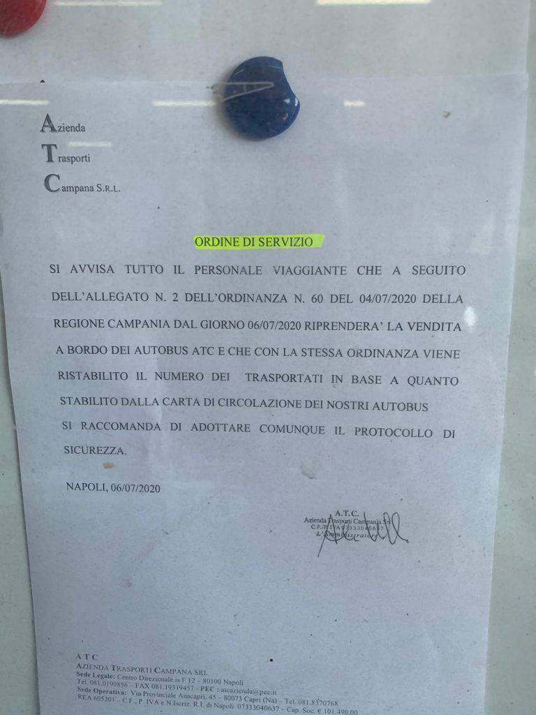 Mezzi di trasporto pubblico nuovamente a pieno carico, sui bus a Capri torna la vendita dei biglietti a bordo