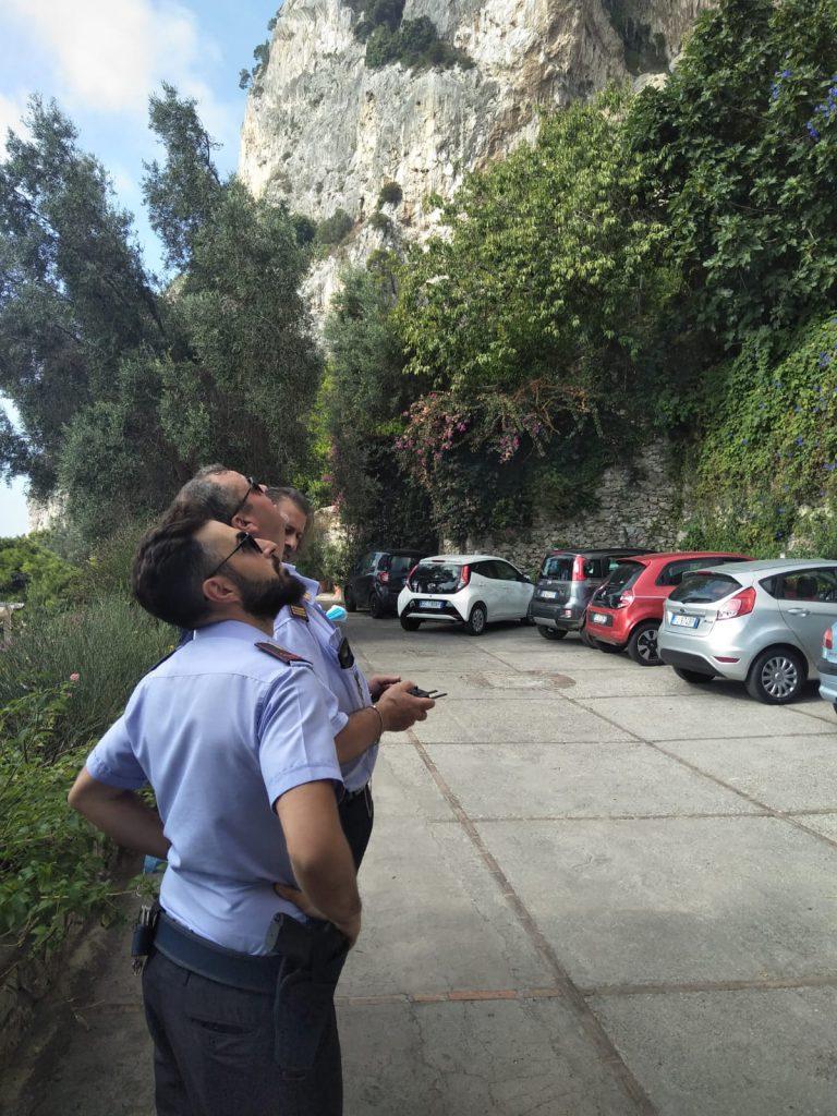 Frana alla Grotta delle Felci, ricognizione aerea con il drone in dotazione al Comune di Anacapri