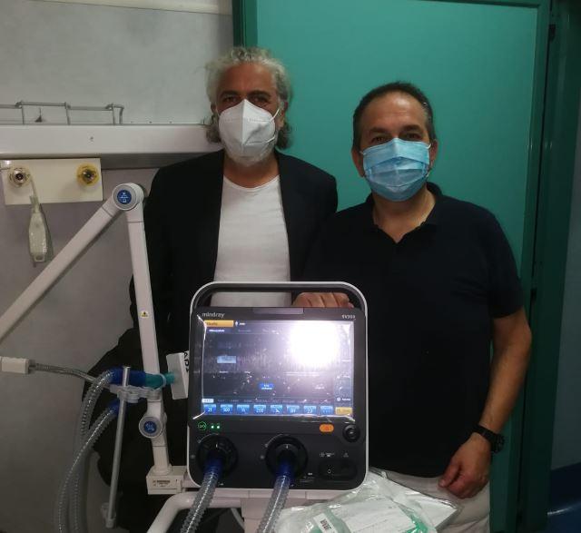Consegnato e messo in funzione all'ospedale di Capri ventilatore polmonare di ultima generazione donato da un benefattore